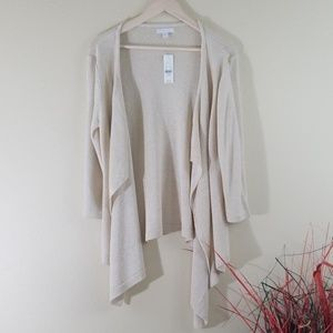 NWT New York & Company Ivory Metallic Cardigan